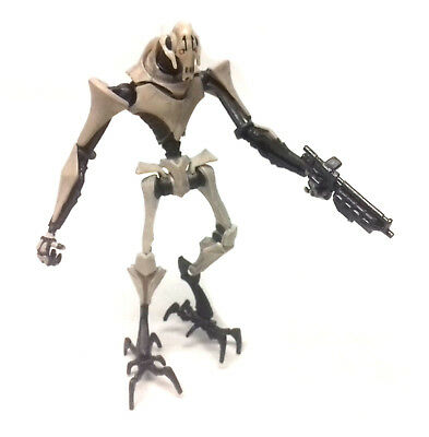 """STAR WARS Clone Wars General Grievous 3.75"""" toy action figure with blaster"""