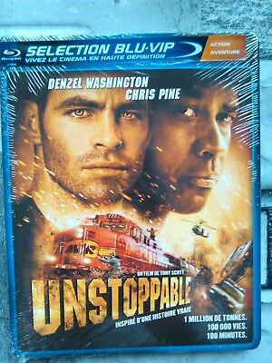 Unstoppable ( Denzel Washington ) , blu-ray + dvd neuf sous blister