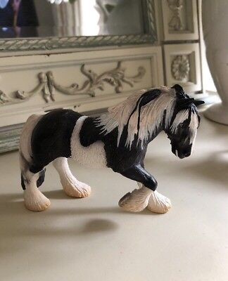 Schleich Black And White Toy Horse For Collection Excellent Quality & Condition