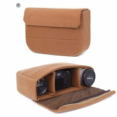 Waterproof DSLR SLR Padded Camera Bag Insert Partition Lens Case Pouch Large M