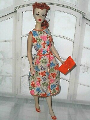 Vintage BARBIE * BRUNCH TIME #1628 COFFEE'S ON #1670 DRESS + JAPAN HEELS PURSE