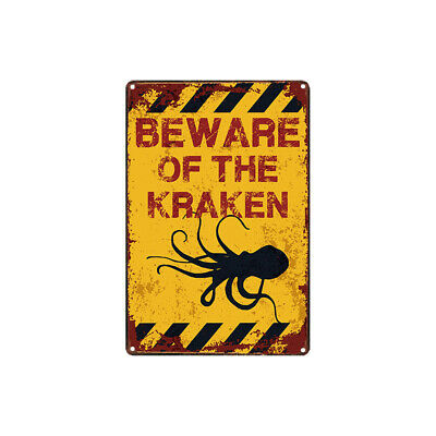 Retro Metal Tin Signs Vintage Plate Warning Caution Poster Art Wall Decor