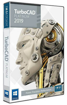 TurboCAD 2019 Platinum Professional 2D & 3D CAD Software Electronic Download