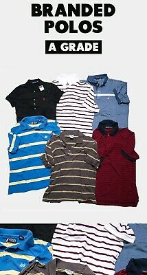 100 X Branded Polo Tees Wholesale Job Lot Bundle