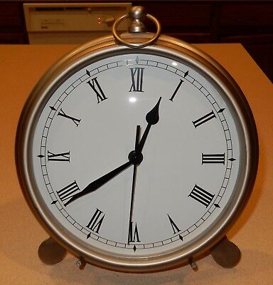 Pottery Barn LARGE Pocket Watch Clock W Stand & Little Clock