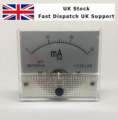 PM-85C1 0-30 mA PRE WIRED METER KIT CO2 LASER CUTTER K40 RED BLACK BLUE WHITE