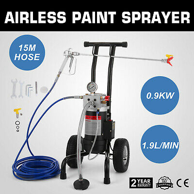 All-in-One Airless Paint Sprayer4l/min W/ Air Tires +15m Gun Extension, Filter