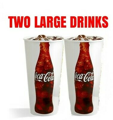 AMC Theaters - 2 Large Drinks - Expires 6/30/20 *FAST DELIVERY*