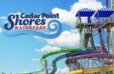 Cedar Point Shores e-tickets -1 Day General Day Admission (Total of 2 e-tickets)