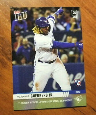 Vladimir Guerrero Jr.  2019 Topps Now #137 RC rookie card MLB debut 4/26/2019