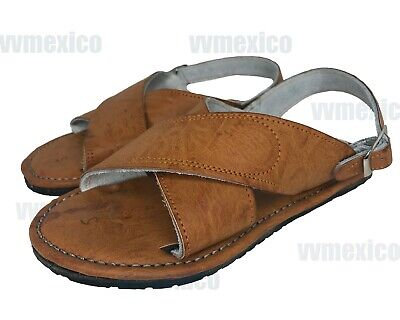 Mens Leather Mexican 2 Strap Sandals Huarache