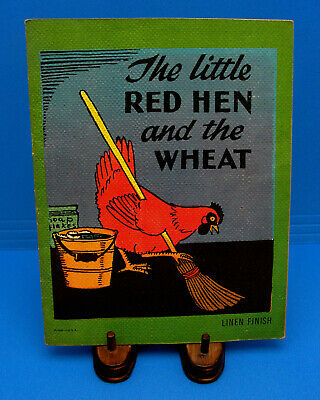 Rare 1940's Vintage Antique THE LITTLE RED HEN Illustrated Children's Book