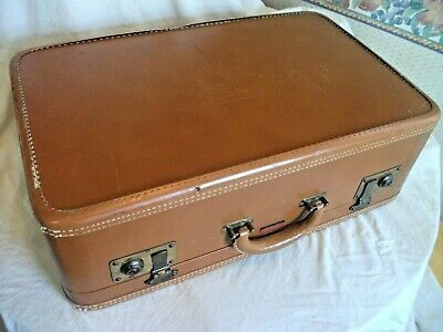 Vintage Travelaire Luggage Briefcase Suitcase Friedbe Luggage Brown
