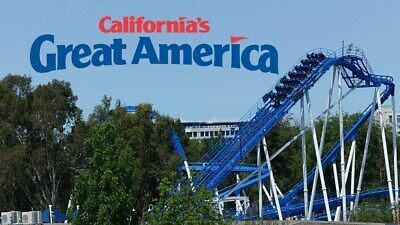 California's Great America - 1 Day General Day Admission (Total of 2 e-tickets)