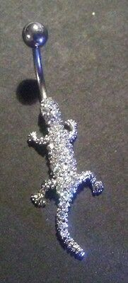 Sterling Silver & Rhinestones Lizard Belly Jewelry - FREE US SHIPPING!!!!!