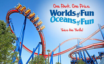 Worlds of Fun e-tickets - 1 Day General Day Admission (Total of 2 e-tickets)