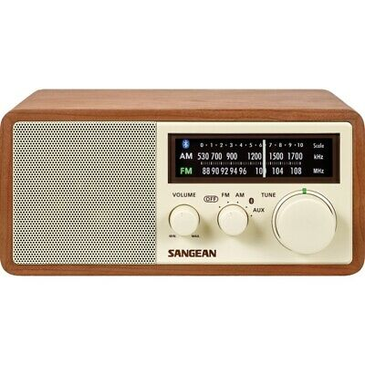 Sangean Wr-16 Am/Fm/Bt Wood Cabinet Radio