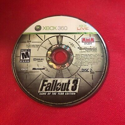 Fallout 3 (Microsoft Xbox 360, 2009) (Disc 2 Only) (GD)