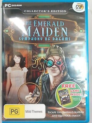 The Emerald Maiden - Symphony of Dreams - PC CD-ROM - Hidden Object Game