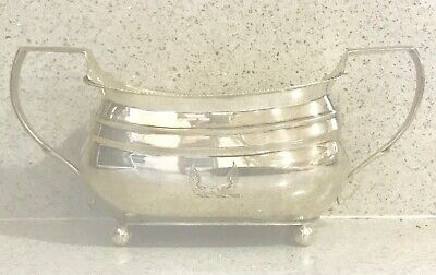 Antique large English sterling silver twin handles bowl ,1807,London