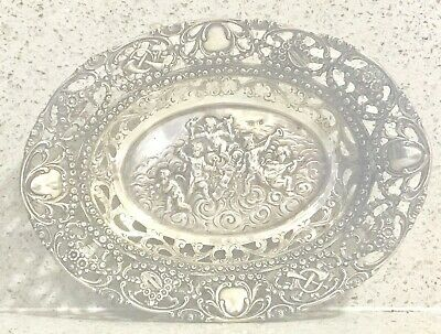 European German solid silver bowl or tray or dish , marked 800