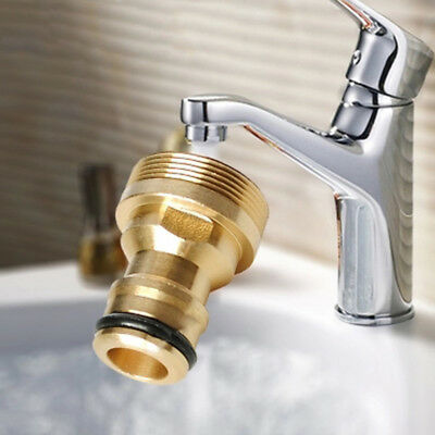 Indoor Kitchen Brass Mixer Tap Hose Pipe Connector Copper Fitting Quick UK SHIP!