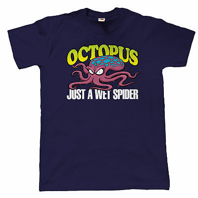 Octopus Wet Spider Mens Funny T Shirt, Fathers Day Birthday Gift for Dad Grandad
