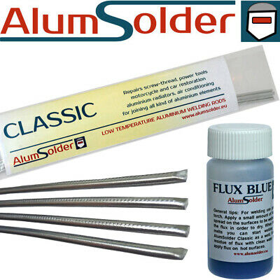 AlumSolder Classic and Flux Blue - aluminium welding rods, brazing, repair