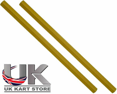 Track / Tie Rod 310mm x M8 Hex Gold x 2 Go Kart Karting Race Racing
