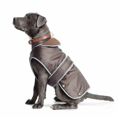 Dog Coat Ancol Storm guard chest protection Use over Harness Waterproof Chocolat