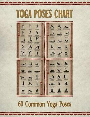 100 Yoga Poses Asanas Poster Instructional Graphic Poster For Yoga