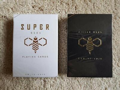 Killer & Super Bees Playing Cards 2 Luxury Decks Ellusionist Gold not Bicycle
