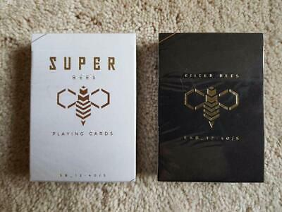 Killer & Super Bees Playing Cards 2 Luxury Decks Ellusionist Gold not Bicycle.