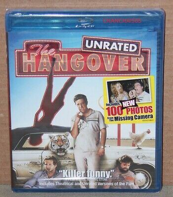 The Hangover (Blu-ray Disc, 2009, Rated/Unrated) Brand New, Factory Sealed
