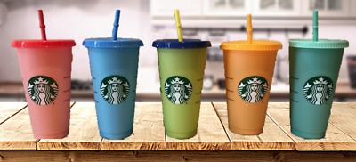 Starbucks COLOR CHANGING Cold Cups SINGLE CUPS Summer 2019 24oz IN HAND
