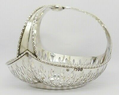 BEAUTIFUL RARE ANTIQUE TRI-HANDLED SOLID SILVER BOWL HM CHESTER 1907 WEIGHT 180g