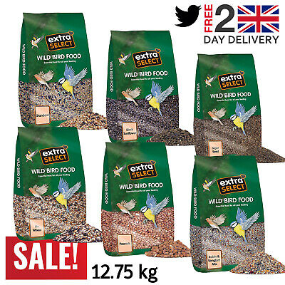 Extra Select Premium Seed Wild Bird Food, Black Sunflower, Niger, Mix - 12.75 kg