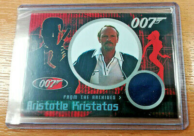 Quotable James Bond Julian Glover as Aristotle Kristatos CC5 Costume Relic Card
