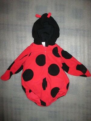 f70f86a2b Carter's Infant Girls Halloween Costume Plush Ladybug Fluffy Belly Vest 12M