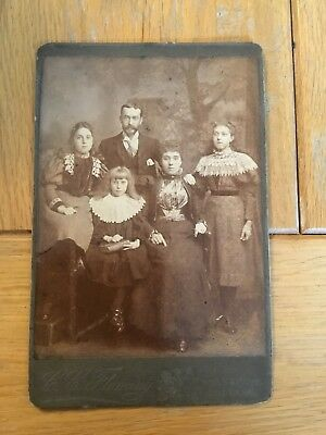 Victorian Edwardian Original Family Portrait Photograph Cabinet Card Southsea