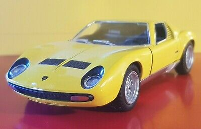 Lamborghini Miura P400sv Yellow 1 34 Diecast Model Car Kinsmart