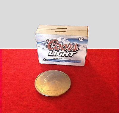 "1:6 scale Handmade miniature for 11-12"" size dolls - Coors light beer case"