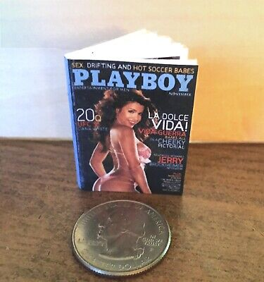 "1:6 scale Handmade mini for 11""-12"" dolls - Playboy magazine #2 w/real pages"