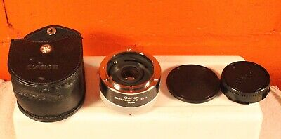 Canon Extender FD 2x-A Teleconverter with End Caps and Original Leather Case