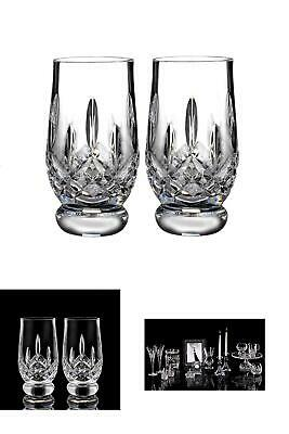 Waterford Crystal Lismore Footed Whiskey Tasting Tumbler Glass Glassware Set Of