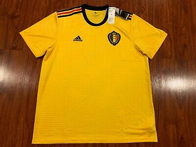 73f6b141e92 2018 WORLD CUP Adidas Men's Belgium National Team Away Soccer Jersey ...