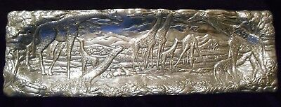 """1992 Arthur Court Giraffe Tray with Square Edges - 19"""" long"""