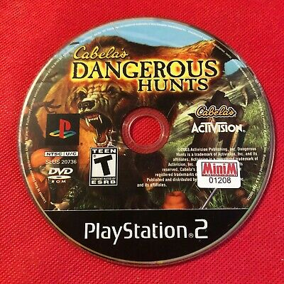 Cabela's Dangerous Hunts (Sony PlayStation 2, 2003) (Game Only) (GD)