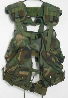 BDU Tactical Load Bearing Vest US Military Issued canteen belt With Pouches