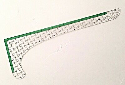 Brother L-SHAPED RULER **New** Full Scale, Centimeters - Mfg's Original